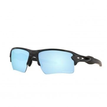 Lente de Sol Oakley Flak 2. Xl Marco Matte Black Camo Lente Prizm Deep Water Polarized Calibre 59 Polarized