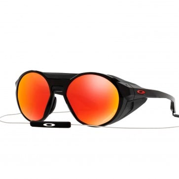 Lente de Sol Oakley Clifden Polished Black  Prizm Ruby Polarizado
