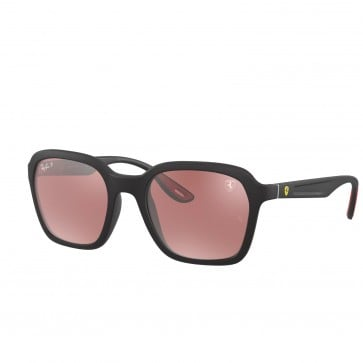 Lente de Sol Ray Ban RB4343M Scuderia Ferrari Collection Negro Violeta Polarizados