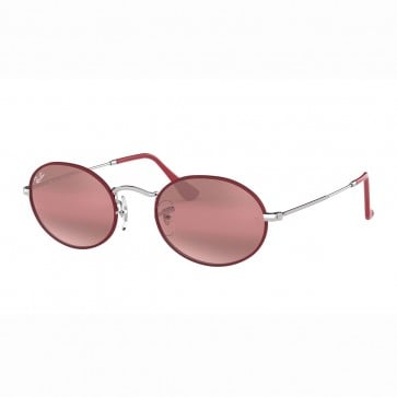 Lentes de Sol Ray Ban Oval Flat Cobre Flash