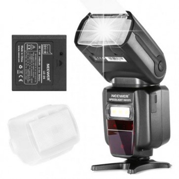Flash NW 870E-TTL / I-TTL Speedlite para camaras Canon y Nikon con batería recargable + cargador Neewer 1