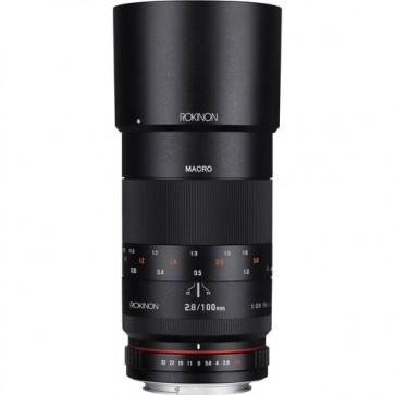 Lente Rokinon 100mm f / 2.8 Macro para Canon EF