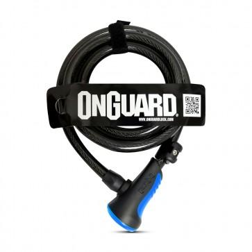 Candado On Guard Espiral 180m X 8mm Azul