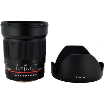 Lente Gran Angular Rokinon 24mm f / 1.4 ED AS UMC para Canon