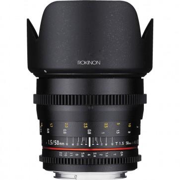 Lente Rokinon 50mm T1.5 AS UMC Cine DS para Micro Cuatro Tercios