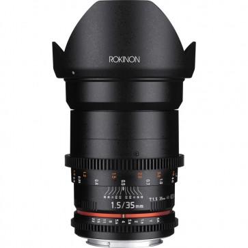 Lente Rokinon T1.5 Cine DS de 35 mm para montaje Micro Cuatro Tercios