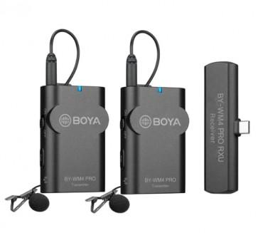 Sistema de micrófono inalámbrico de 2,4 GHz para Android y otros dispositivos tipo C  BY-WM4 Pro-K6
