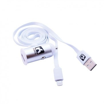 Cargador 2A - Auto + Cable Apple Lightning 1 mt - Kses