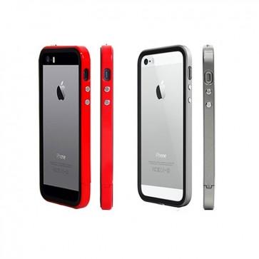 Carcasa Bumper B1 + Lámina Protectora + Tapón Anti-Polvo - Iphone 5 - Colorant