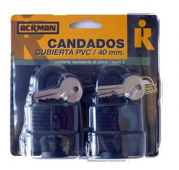 Set de Candado Cubierto de PVC 40 mm Grandes - Ackman