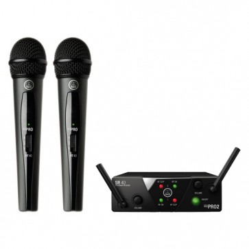 Sistema de Micrófono Inalambrico Doble AKG WMS40 Mini 2 Voc-Set B
