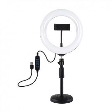 Aro de Luz de 20cm USB + Tripode Puluz