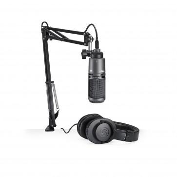 Microfono Audio-Technica AT2020USB + Audifono ATH-M20x / Brazo y Cable USB