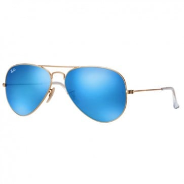 Lentes Ray-Ban Aviador Flash Azul