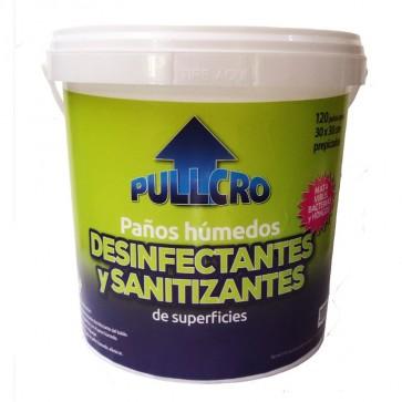 Balde de Paños desinfectantes  de superficie  120 unidades Pullcro