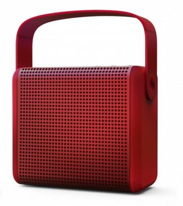 Parlante Portátil inalámbrico bluetooth BooMin MiPow color rojo