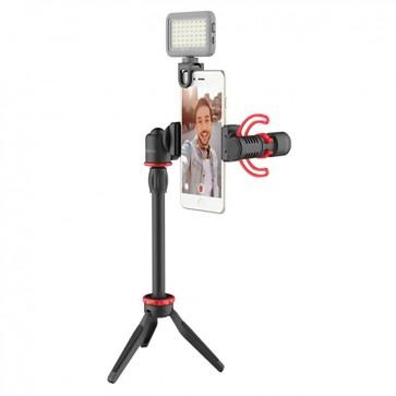 Kit Vlogger Boya con Iluminacion BY-VG350