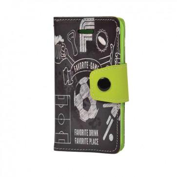 Carcasa Flip Cover + Lámina protectora Iphone 5/5s Kses