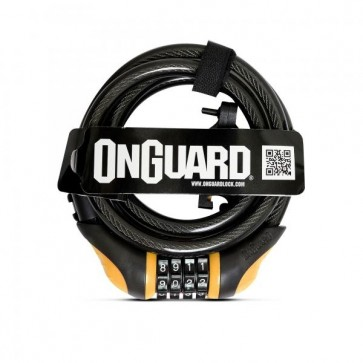 Candado Espiral OnGuard con clave 180cm x 12mm