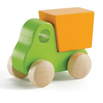 Mini camion de Basura Verde Hape  3