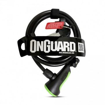 Candado On Guard Espiral  180 X 8mm Verde
