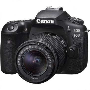Canon EOS 90D + Lente EF-S 18-55mm f3.5-5.6 IS STM