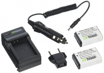 Pack de 2 Baterias para Canon LP-E12 Wasabi