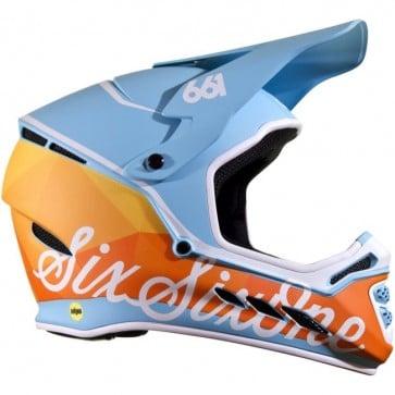 Casco de Bicicleta SixSixOne Reset C/Mips Azul /Naranjo XL