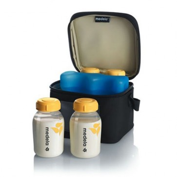 Set de Cooler Bag + 4 Botellas + Enfriador - Medela Chile