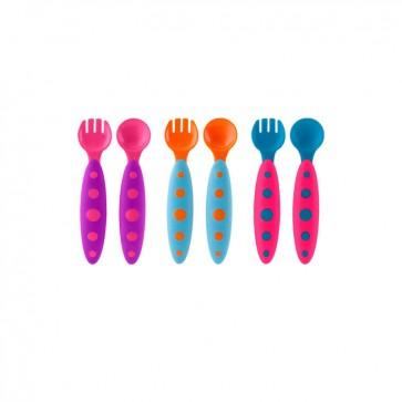 Modware - Set Cucharas Tenedores para bebé - Boon 1