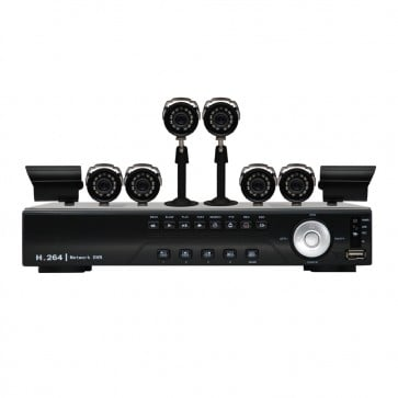 KIT DVR de 8 Canales 8 Camaras  - 480TV - Sony CCD - Vonnic