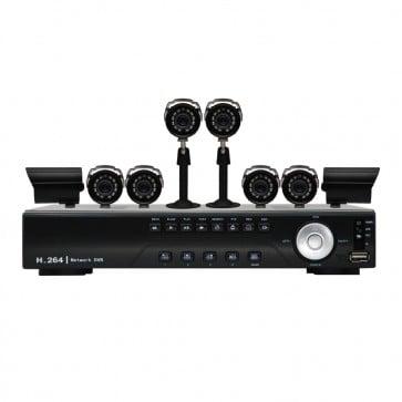 KIT DVR de 8 Canales 8 Camaras - 480TV - Sony CCD - Vonnic