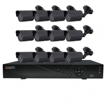 Kit DVR 850 TVL 960h - 16 Canales 12 Camaras - Vonnic
