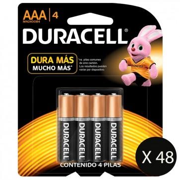 Packs de 48 Pilas Duracell AAA de 4 Pilas