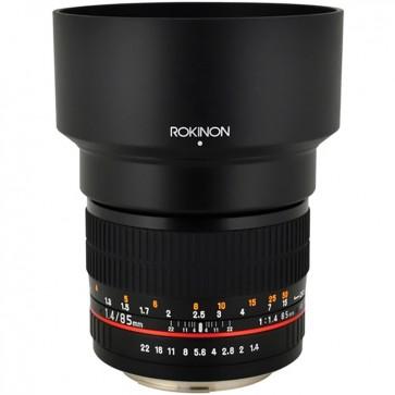 Lente Rokinon 85mm f / 1.4 AS IF UMC para Nikon F con Chip AE