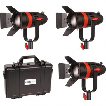 Kit de 3 luces de Video Fresnel 55W Boltzen Came-TV Daylight 1