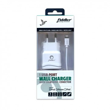 Cargador de Pared USB  Fiddler  Con cable Lightning