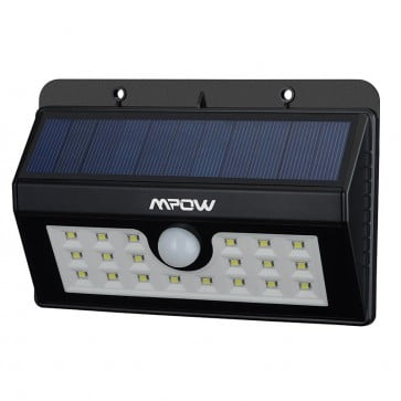 Luz LED solar con sensor de movimiento 20 LED - Mpow