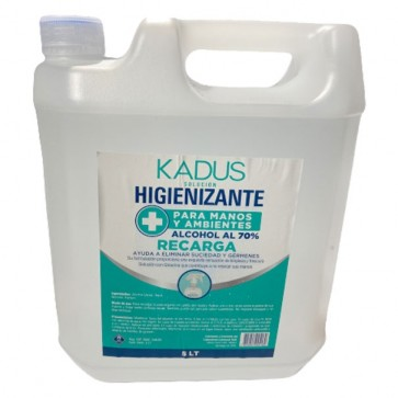 Recarga de Higienizante para Manos y Ambientes 5 Litros