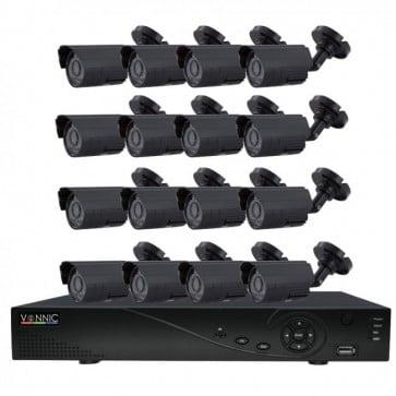Kit DVR 850 TVL 960h - 16 Canales 16 Camaras - Vonnic