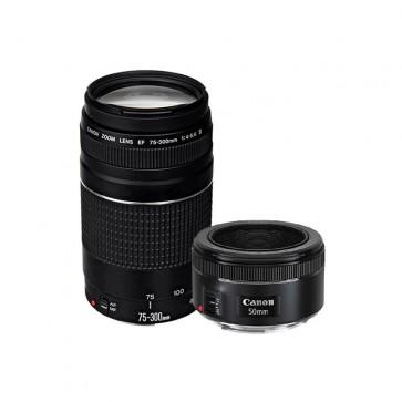 Pack de Lentes Canon EF 50 mm 1.8 STM + EF 75-300 f/4-5.6III