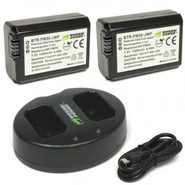Kit de Baterias y Cargador para NP-FW50 - Wasabi