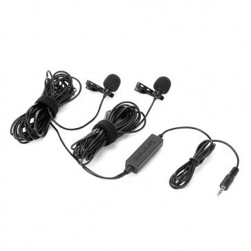 LavMicro 2M Micrófonos Lavalier con cableado doble para DSLR, Cámaras Mirorless y Video