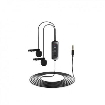 Microfono Lavalier Doble para DSLR y Smartphone LCM5D CKMOVA