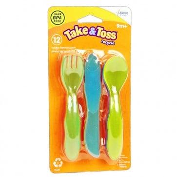 Set de 4 Tenedores, 4 Cuchillos, 4 Cucharas 9m+ - Learning Curve