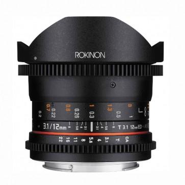 Rokinon 12mm T3.1 Full Frame Cine DS Fisheye Lente para Canon EF