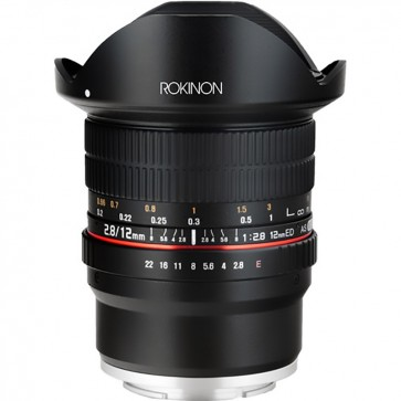 Lente ojo de pez Rokinon 12mm f 2.8 ED AS IF NCS UMC para montura Sony E