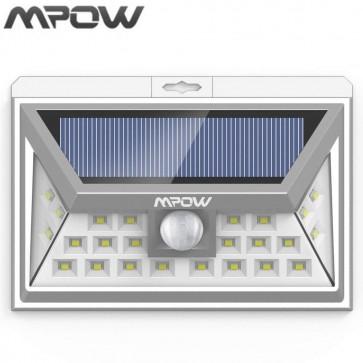 Luz Solar de exterior de 24 LEDs Plateada MPOW