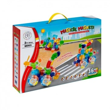 Auto con Luces Magical Magnets 36 piezas