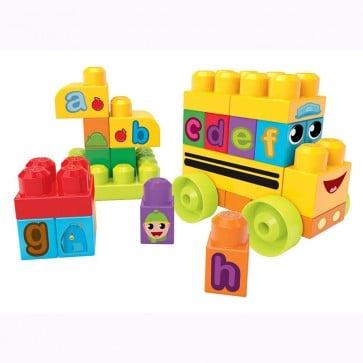 Juego de bloques Mega Bloks Autobús escolar ABC - Fisher Price 1